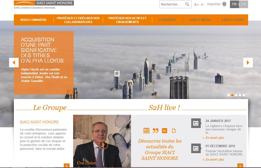 s2hgroup.com Siaci Saint Honore groupe de conseil et gestion en assurances et Mutuelle vivinter avis société