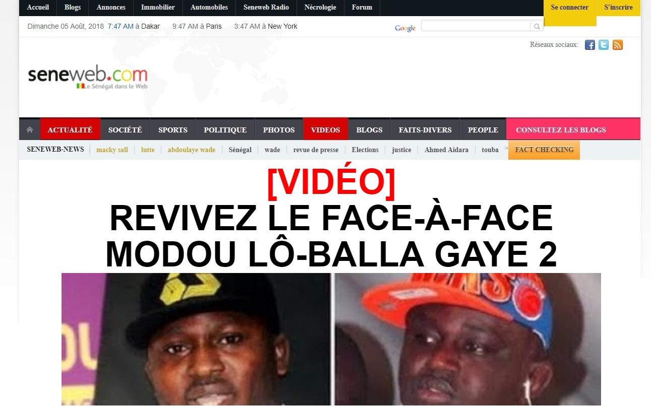 seneweb.com Le Sénégal Dans le Web Actualités sénégalaise Dakar sport et politique