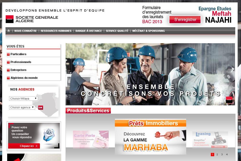 societegenerale.dz Banque Société Générale Algérie logitelnet