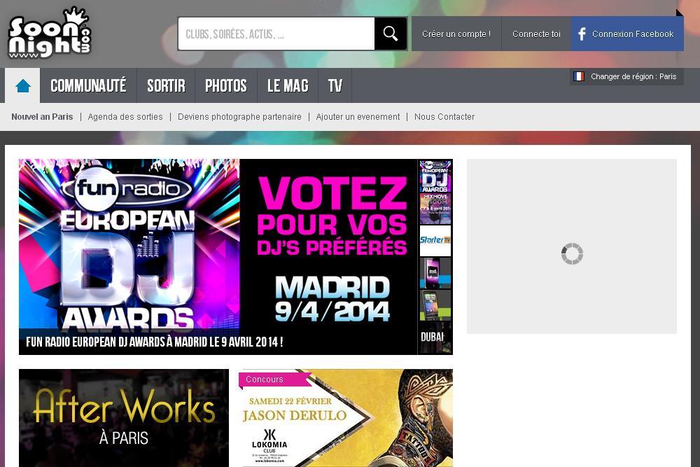 soonnight.com Soirée Club Festival et Concert en France