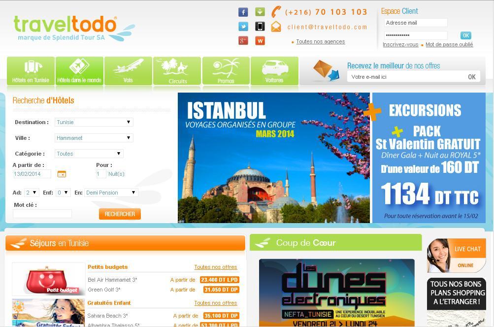 traveltodo.com Agence de Voyage vacances vols hôtels séjours