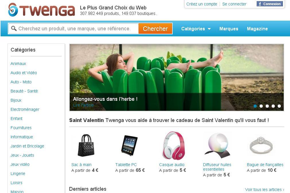 twenga.fr Comparateur de prix en ligne Shopping moins cher
