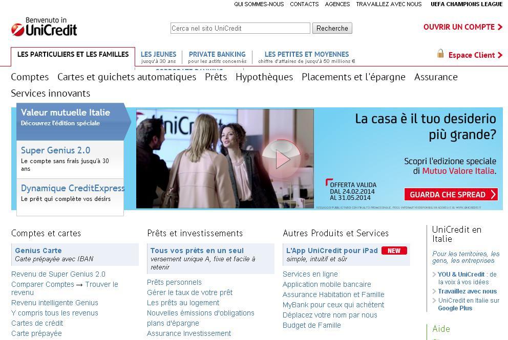 unicredit.it Conti correnti online banca bic swift Mutui azioni bulbank Carte di credito careers Investimenti warrant Prestiti financement