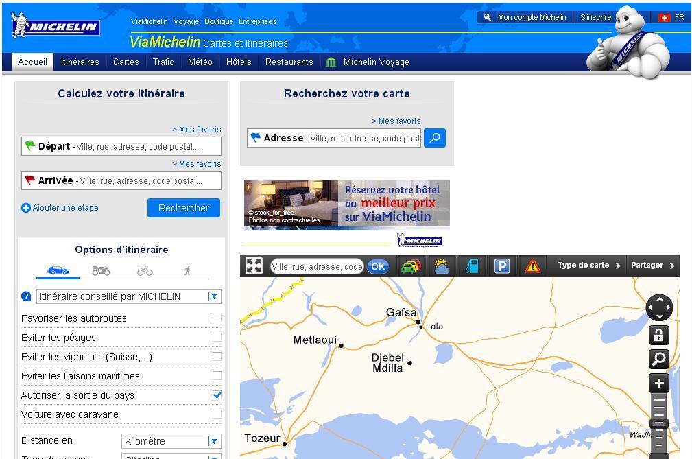 viamichelin.ch Via Michelin Itinéraires Guides Cartes Suisse Réservation hôtel Routes Suisse Belgique France Chelin
