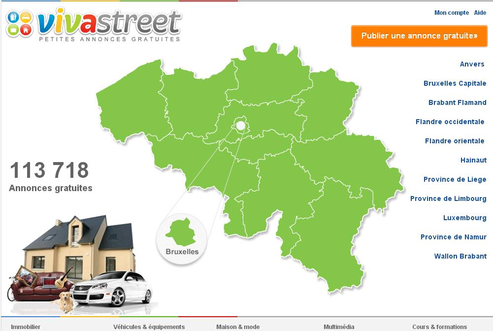 petites annonces gratuites belges viva street immobilier auto moto emploi. Black Bedroom Furniture Sets. Home Design Ideas