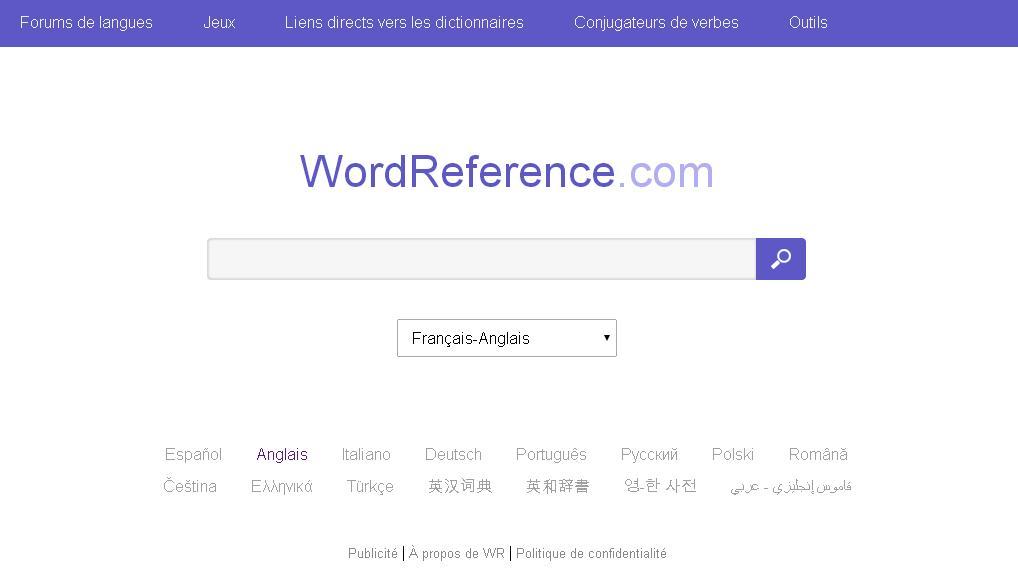 wordreference.com Dictionnaire Word Reference Français Anglais Espagnol Allemand